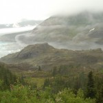 Where the Ice Age still reigns, near Hyder. AK, but probably in BC